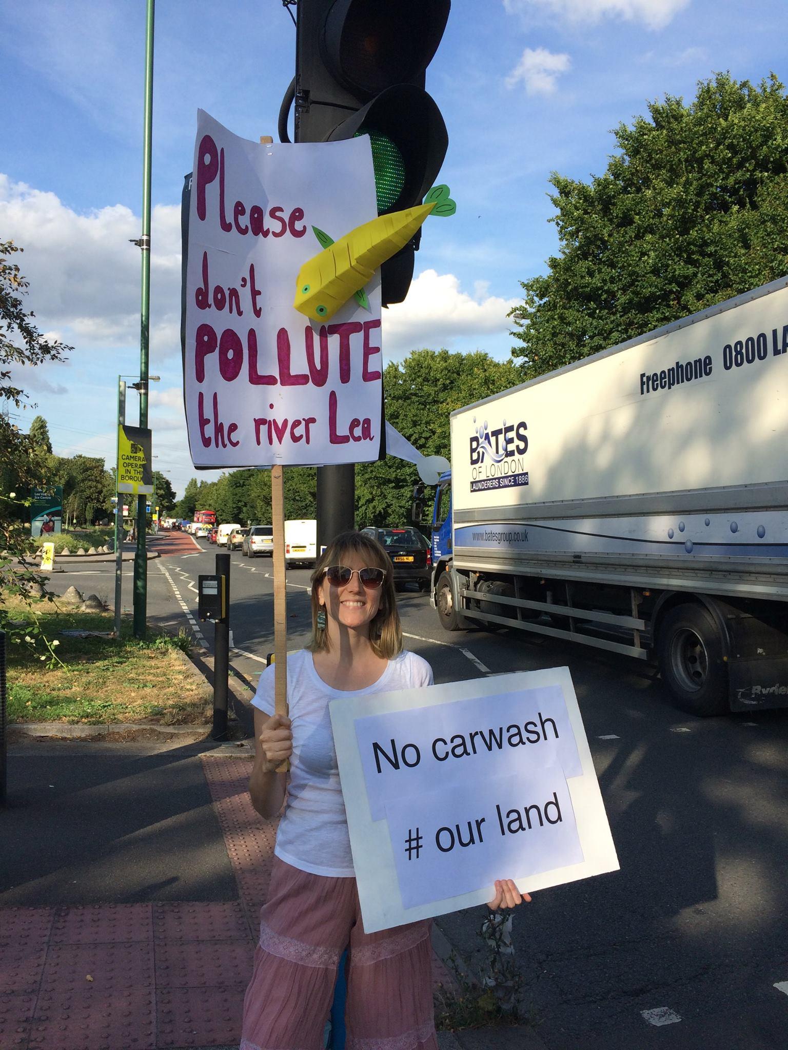 SLM Protest at the car wash